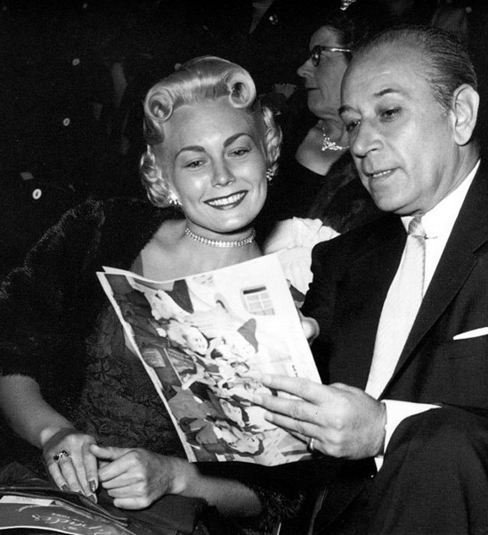 Rose-Marie and George Raft at the Ice Capades. (Bizarre Los Angeles)