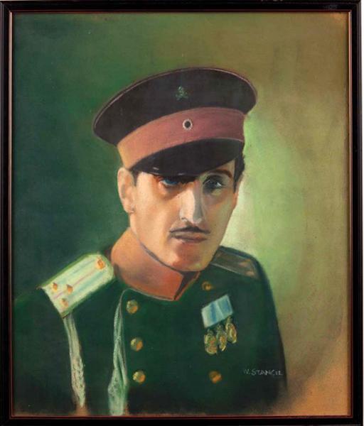 Basil Rathbone painting