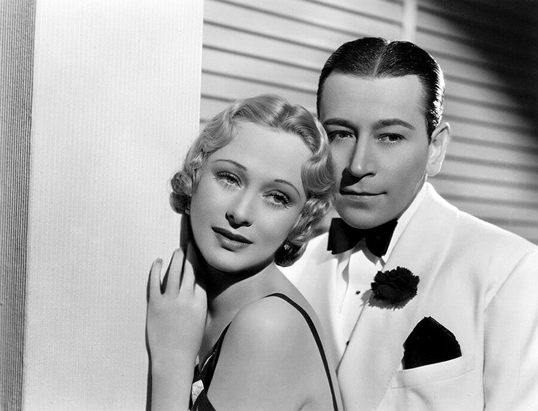 """Dolores Costello and George Raft in """"Yours for the Asking"""" (1936). Bizarre Los Angeles"""