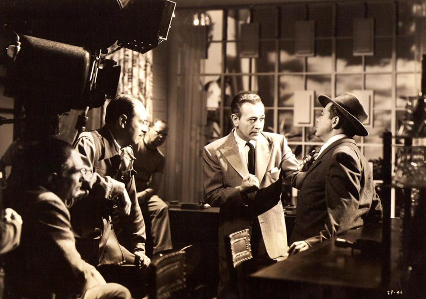 """George Raft Behind the Scenes """"Intrigue"""" (1947)"""