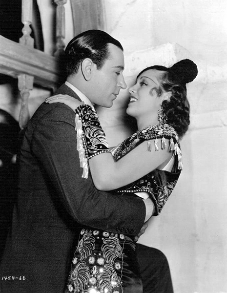 """George Raft and Frances Drake in """"The Trumpet Blows"""" (1934). Bizarre Los Angeles"""