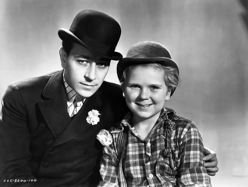 """George Raft and Jackie Cooper from """"The Bowery"""" (1933)"""