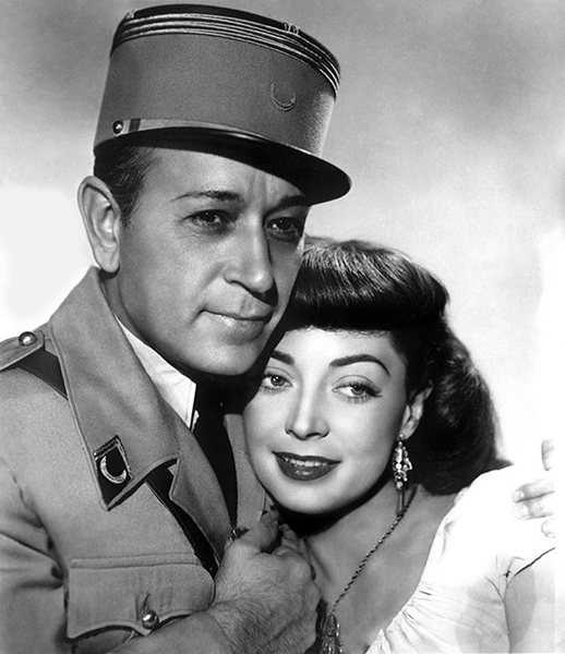 """George Raft and Marie Windsor """"Outpost to Morocco"""" (1949)"""