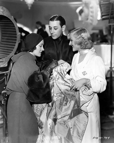 "Gloria Swanson, George Raft and Carole Lombard on the set of ""Bolero"" (1934) Bizarre Los Angeles"