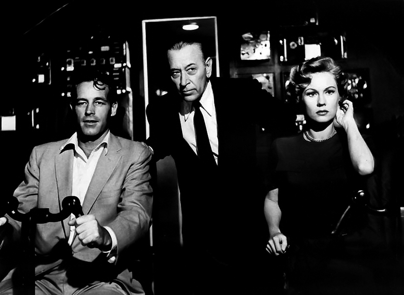"""Guy Madison, George Raft and Virginia Mayo in """"Jet Over the Atlantic"""" (1959) Bizarre Los Angeles"""