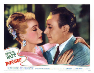 """June Havoc and George Raft in """"Intrigue"""" (1947). Bizarre Los Angeles."""