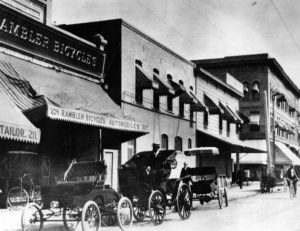 Rambler Bicycles at 207-209 West 5th Street near Spring 1905