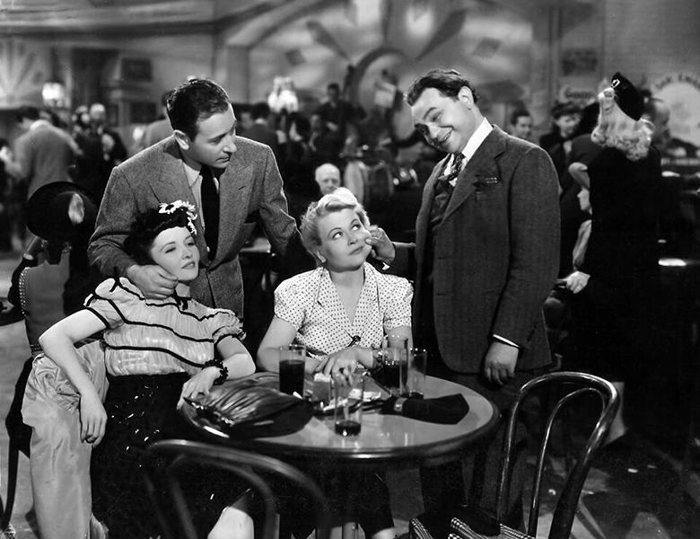 "George Raft and Edward G Robinson in ""Manpower"" (1941). Bizarre Los Angeles"