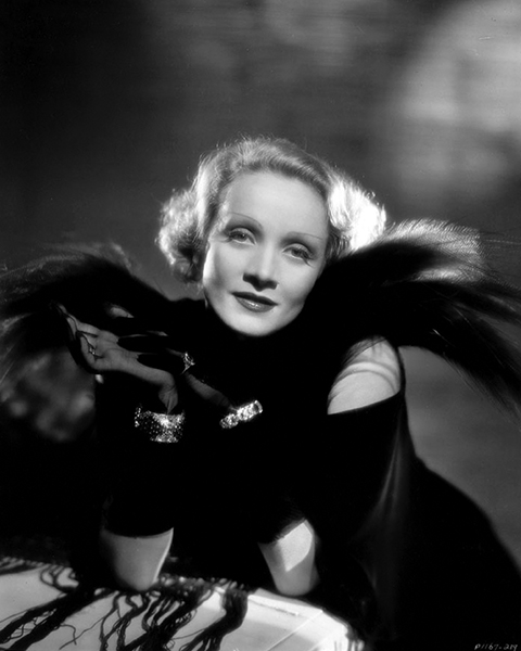 """I never wear colors - just black or white for evening, gray or blonde for daytime."" -- Marlene Dietrich (Bizarre Los Angeles)"