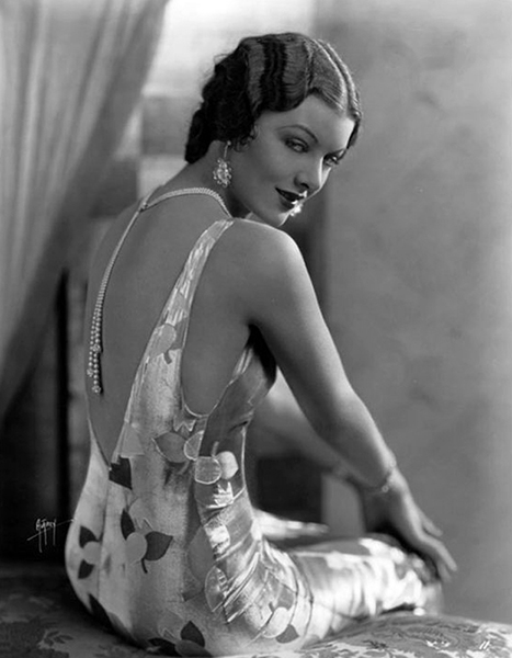 """Nobody thought of me as the virgin, I guess. I had these slinky eyes and a sense of humor."" -- Myrna Loy (Bizarre Los Angeles)"