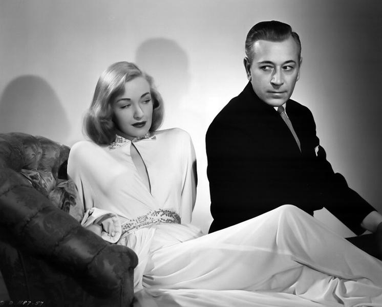 "Nina Foch and George Raft in ""Johnny Allegro"" (1949). Bizarre Los Angeles"