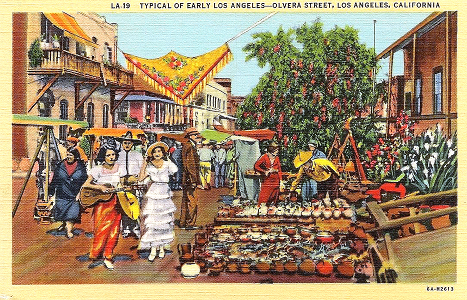 Olvera Street Typical of Early Los Angeles