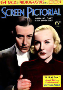 "George Raft and Carole Lombard on the cover of ""Screen Pictorial"" in 1935. Bizarre Los Angeles."