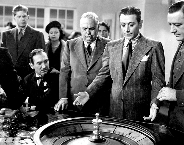 """""""I worked in many roles as a gambler - but I'm not a gambler."""" -- George Raft (Bizarre Los Angeles)"""