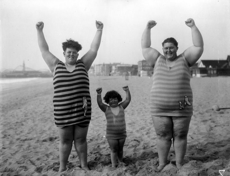 From the not so politically correct files: a family visits Venice Beach circa 1930.