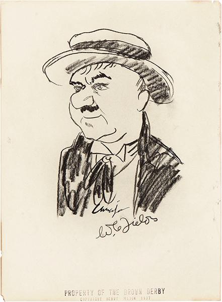 Early caricature of W.C. Fields. (Bizarre Los Angeles)