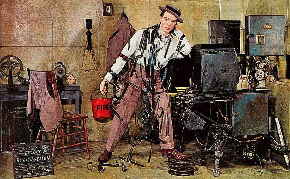 Buster Keaton wax figure