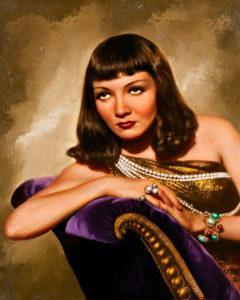 Claudette Colbert Cleopatra painting
