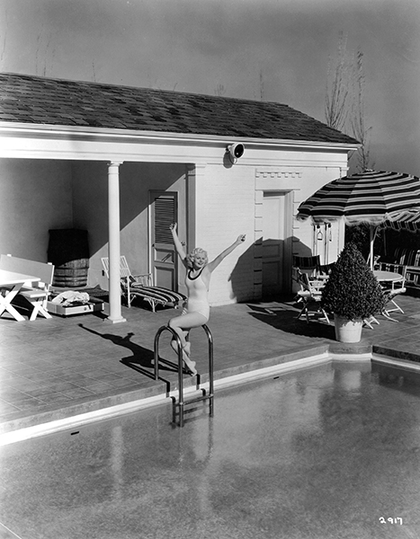 """""""Well, it's not a color – it's white, and everything I prize is just that. All my evening gowns are white; I have a white automobile, a white house furnished in white; a white dog and cat, and I never swim in anything but a white bathing suit."""" – Jean Harlow in 1934."""