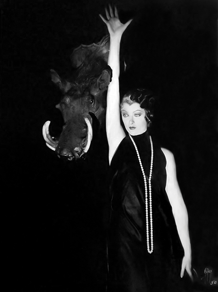 """""""Almost every man will turn around to look at a pretty woman, but it takes a vamp to keep a man's head turned."""" – Myrna Loy (Bizarre Los Angeles)"""
