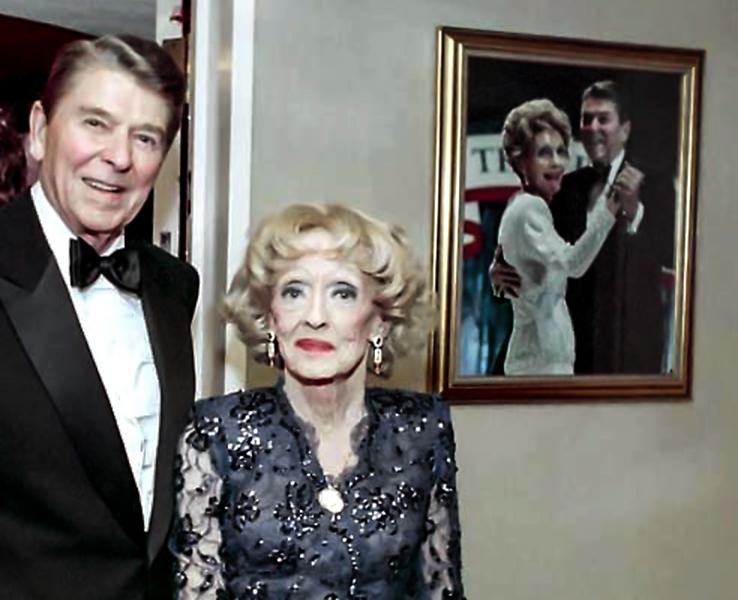 Ronald Reagan Bette Davis