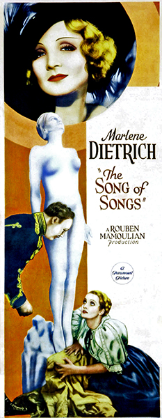 The Song of Songs 1933 poster, starring Marlene Dietrich (Bizarre Los Angeles)