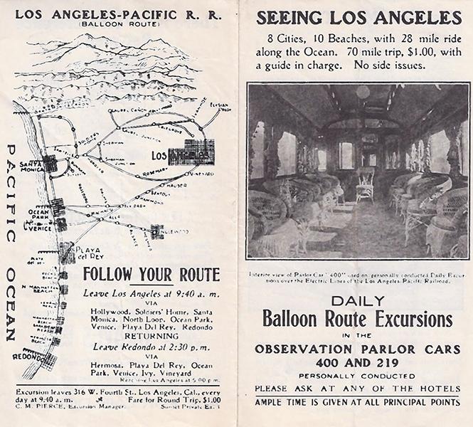 Balloon Rides around Los Angeles, circa 1905.