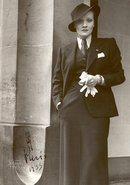 Marlene Dietrich androgynous