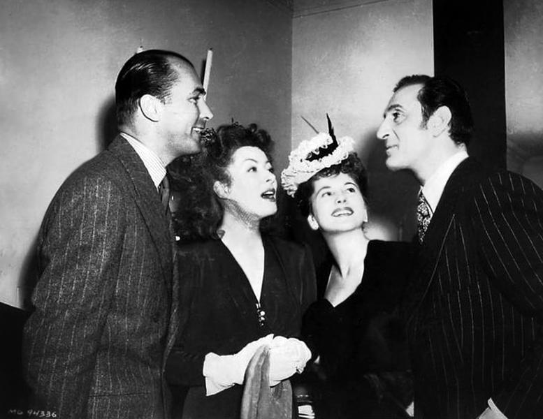 Brian Aherne, Greer Garson, Joan Fontaine Basil Rathbone
