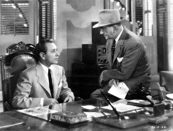 """George Raft in a scene from """"Christmas Eve."""""""