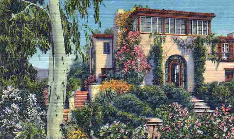 Claudette Colbert's Hollywood Hills home. Bizarre Los Angeles