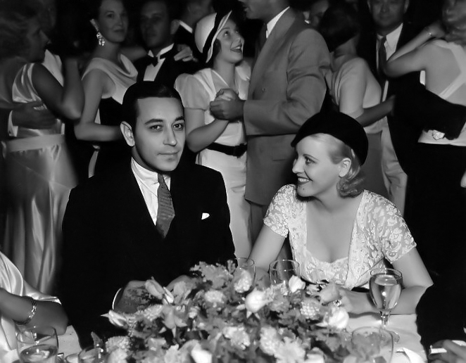 George Raft and Edith O'Roarke at the Cocoanut Grove in 1932. (Bizarre Los Angeles)