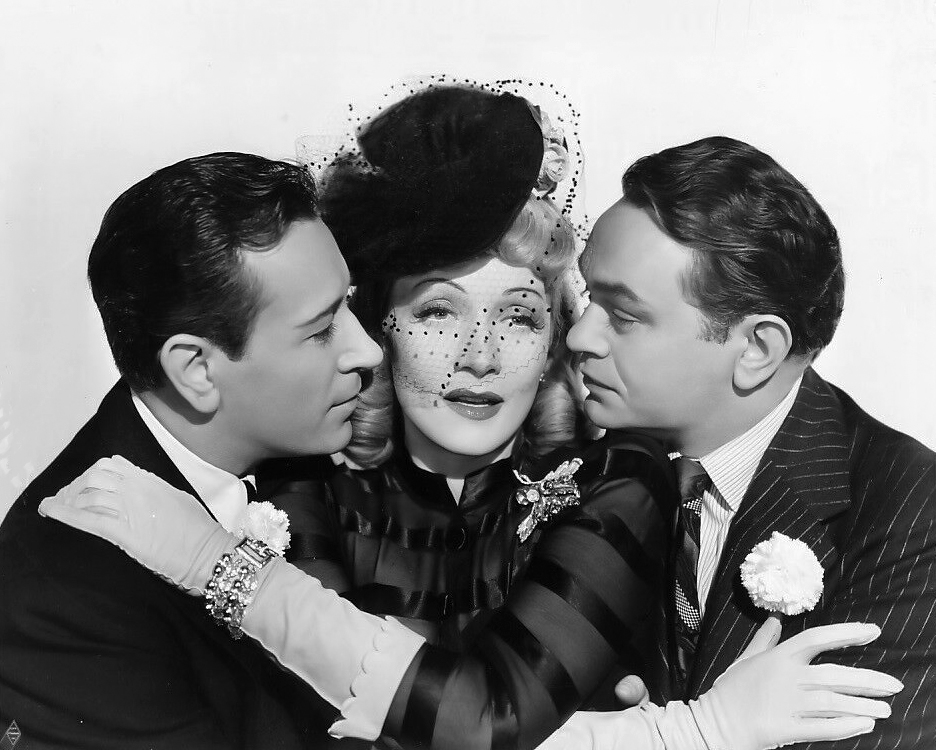 "George Raft, Marlene Dietrich and Edward G. Robinson in ""Manpower"" (1941). Bizarre Los Angeles"