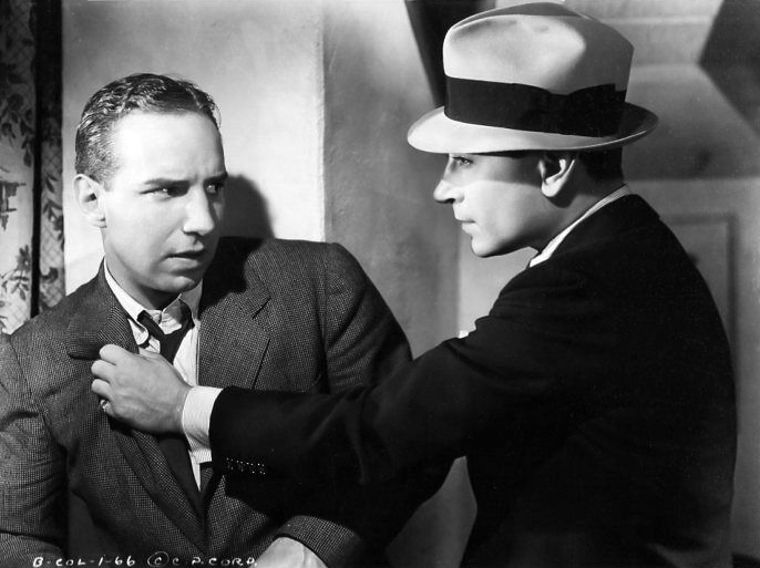 """Lloyd Nolan and George Raft in """"She Couldn't Take It"""" (Bizarre Los Angeles)"""