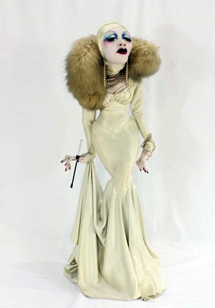 Marlene Dietrich Doll. Artist: Ron Kron. Year: late 1970s (?). Bizarre Los Angeles