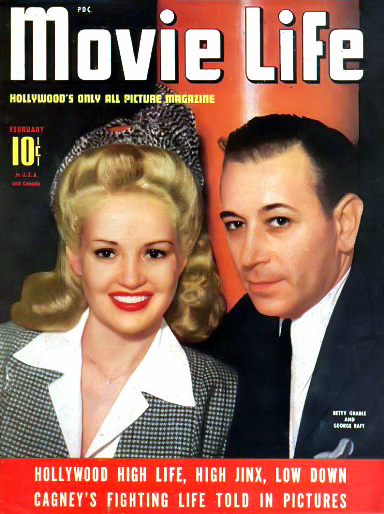 Movie Life with Betty Grable and George Raft, c. 1942. Bizarre Los Angeles