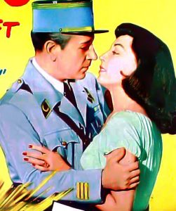 """George Raft and Marie Windsor in """"Outpost in Morocco"""" (Bizarre Los Angeles)"""