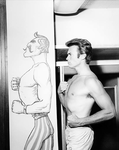 Clint Eastwood strongman