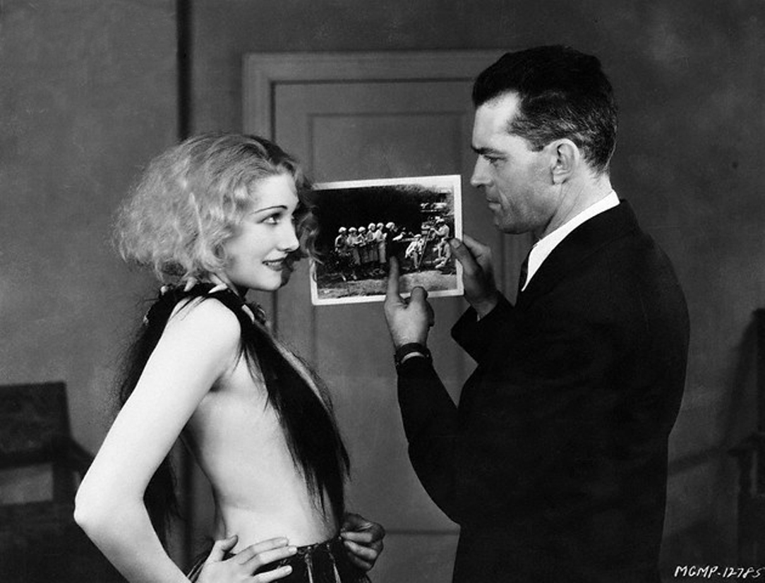 Edwina Booth with Trader Horn director W.S. Van Dyke (Bizarre Los Angeles)