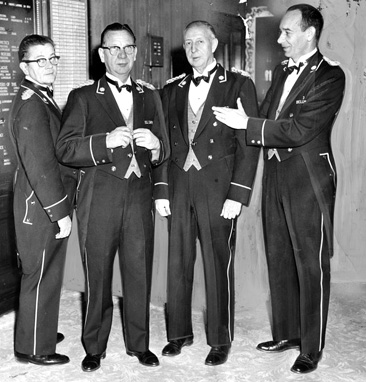 Ambassador Hotel Bell Captain and Bellmen, circa 1950s. Bizarre Los Angeles.