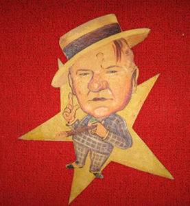 A W.C. Fields caricature from the Los Angeles Ambassador Hotel's Field & Turf Club. Bizarre Los Angeles