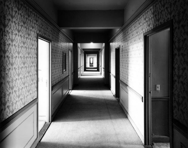 Hallway of the lost Los Angeles Ambassador Hotel. (LAPL) Bizarre Los Angeles