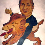 Louis B. Mayer caricature from the Ambassador Hotel's Field & Turf Club. (Bizarre Los Angeles)