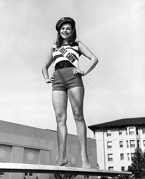 """Miss Boat Show"" Bi Egnell in 1964. (LAPL) Bizarre Los Angeles"