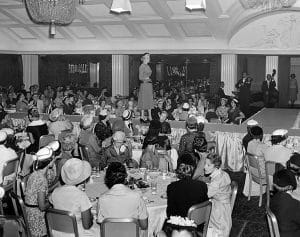 A fashion show at the Ambassador Hotel in September 1955. (LAPL 00073155) Bizarre Los Angeles