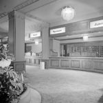 The Los Angeles Hotel Ambassador Hotel's registration desk. (Bizarre Los Angeles)