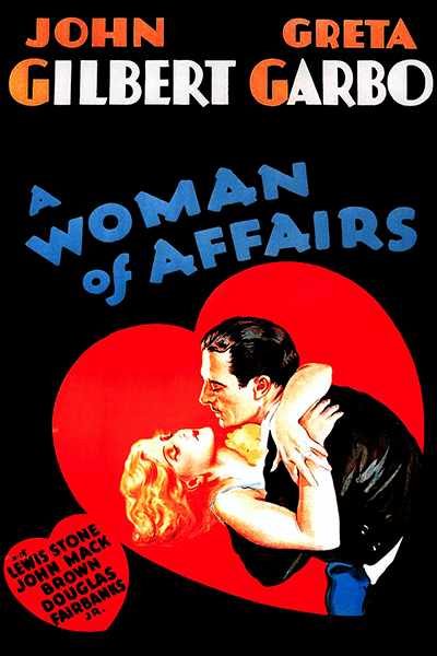 A Woman of Affairs Poster with Greta Garbo and John Gilbert (Bizarre Los Angeles)