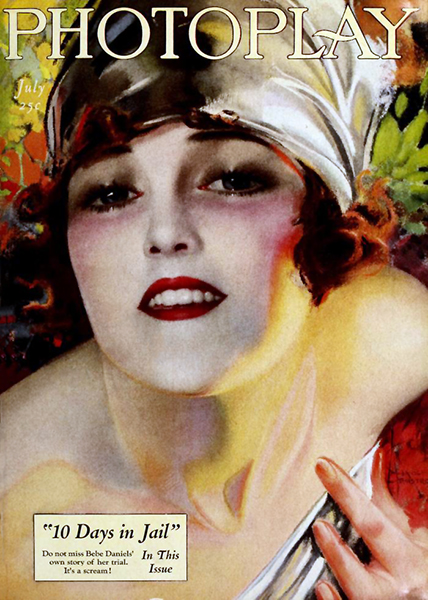 Bebe Daniels on the cover of Photoplay, July 1921 (Bizarre Los Angeles)