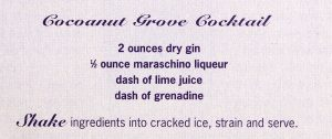 Cocoanut Grove Cocktail Recipe (Bizarre Los Angeles)