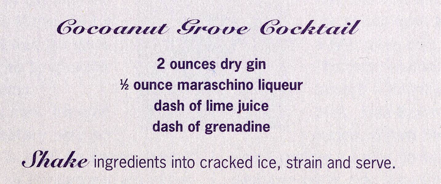 Cocoanut Grove Cocktail Recipe (Bizarre Los Angeles)